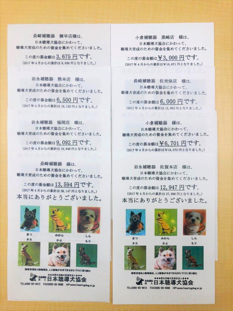 2019年度聴導犬募金のご報告ならびにお礼